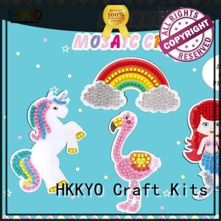 HKKYO mermaid craft kits for kids educational for greeting card
