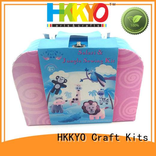 HKKYO wearable felt craft kits easy-to-do for girls