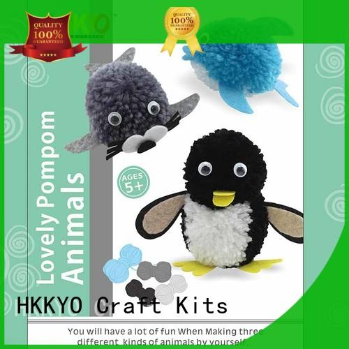HKKYO pom pom pals christmas craft sets manufacturer for kids craft