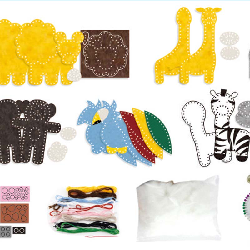 HKKYO fabric felt craft kits educational for rainy day craft-HKKYO-img