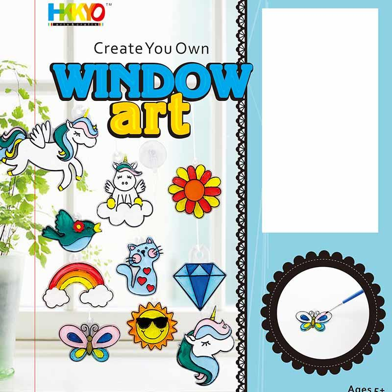 Create  and Paint Your Own Window Art, Unicorn, Rainbow Suncather