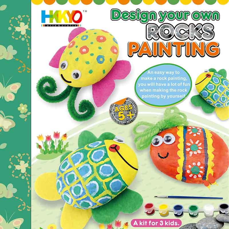 Stone Rock Painting Coloring Craft Kit for Kids