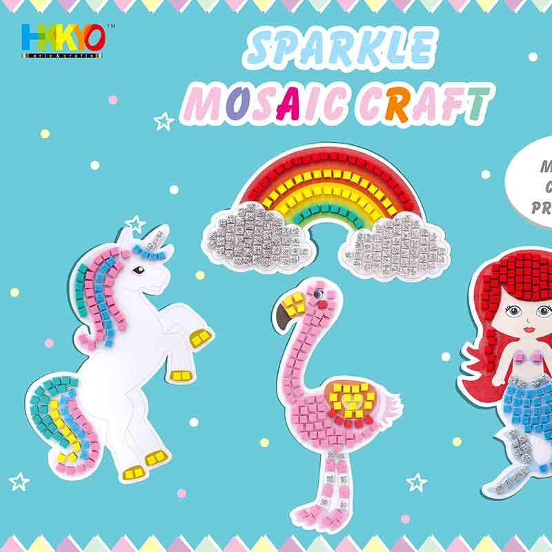 Sticky Mosaics Unicorn Mermaid Rainbow Flamingo Craft Kit