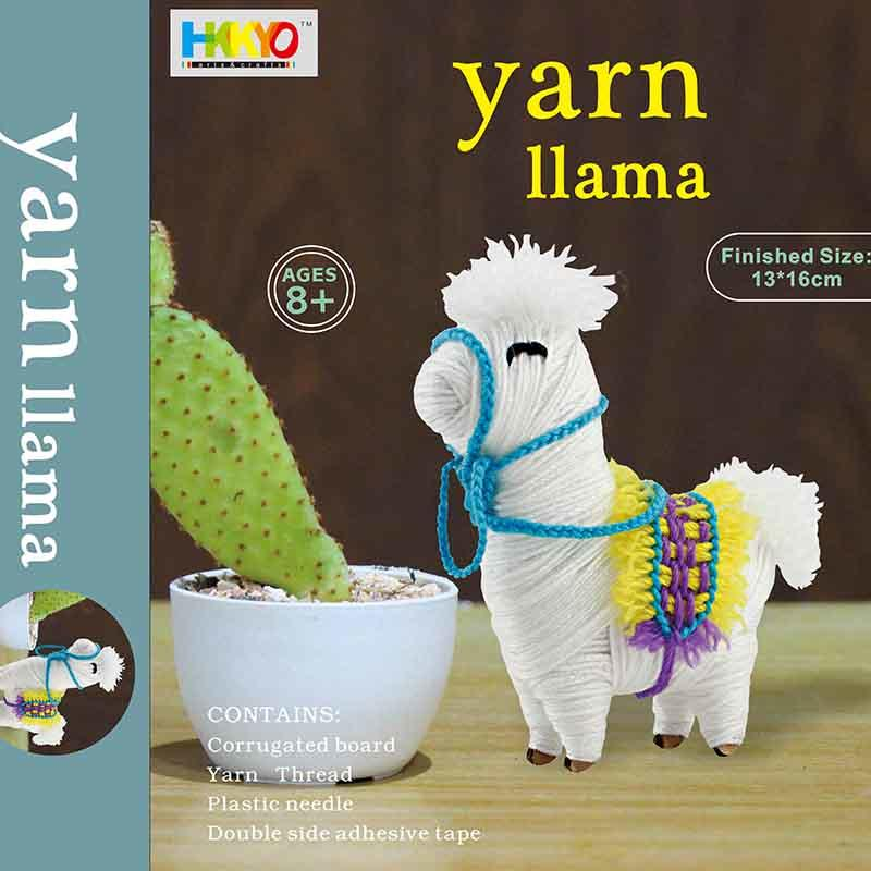 Yarn-Wrapped Llama Alpaca Animal Craft Kit