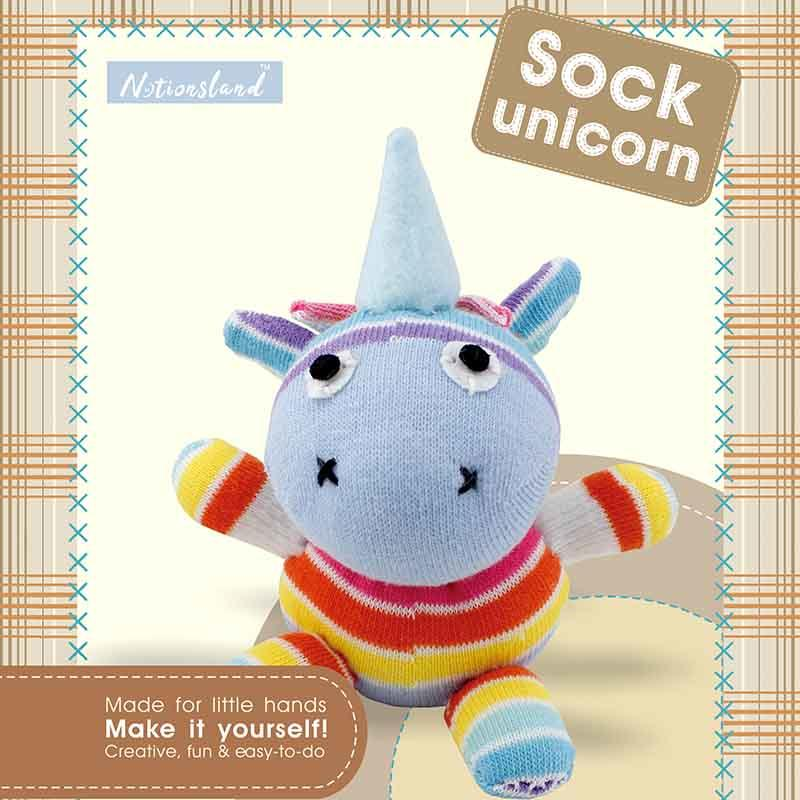 Sew Your Own Stuffed Animal Sock Unicorn Craft Kit