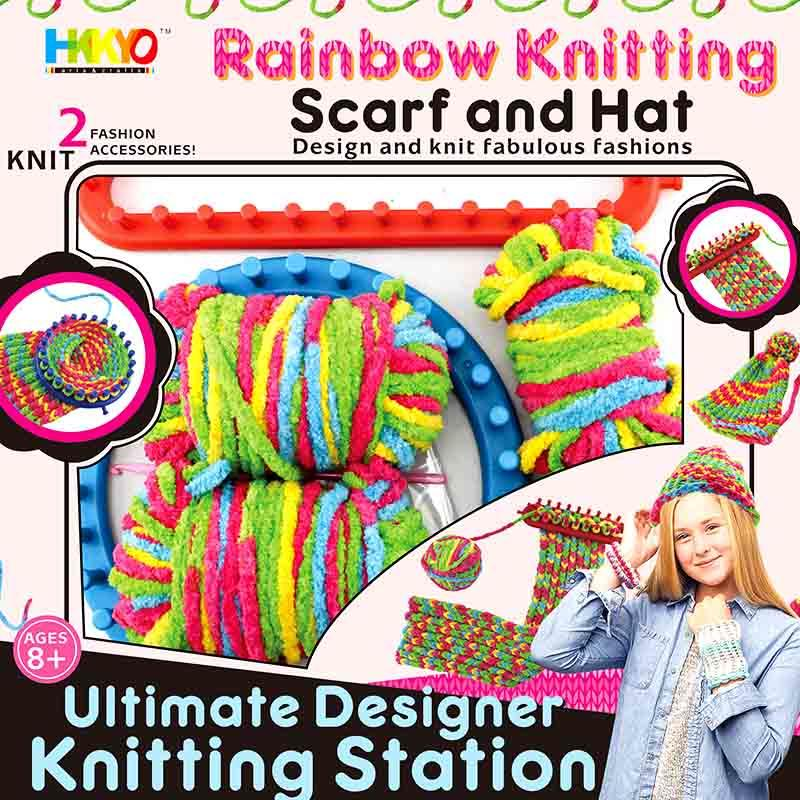Yarn Hat and Scarf Knit and Wear Station Craft Kit