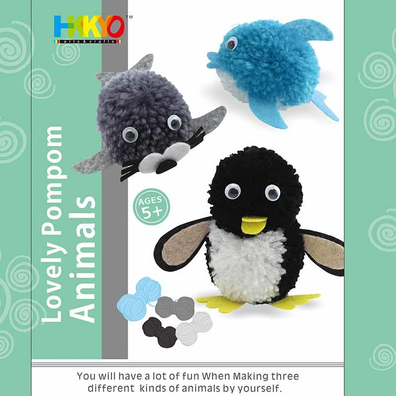 Pom-pom Pals Animals Yarn Arts Crafts Kit for Kids