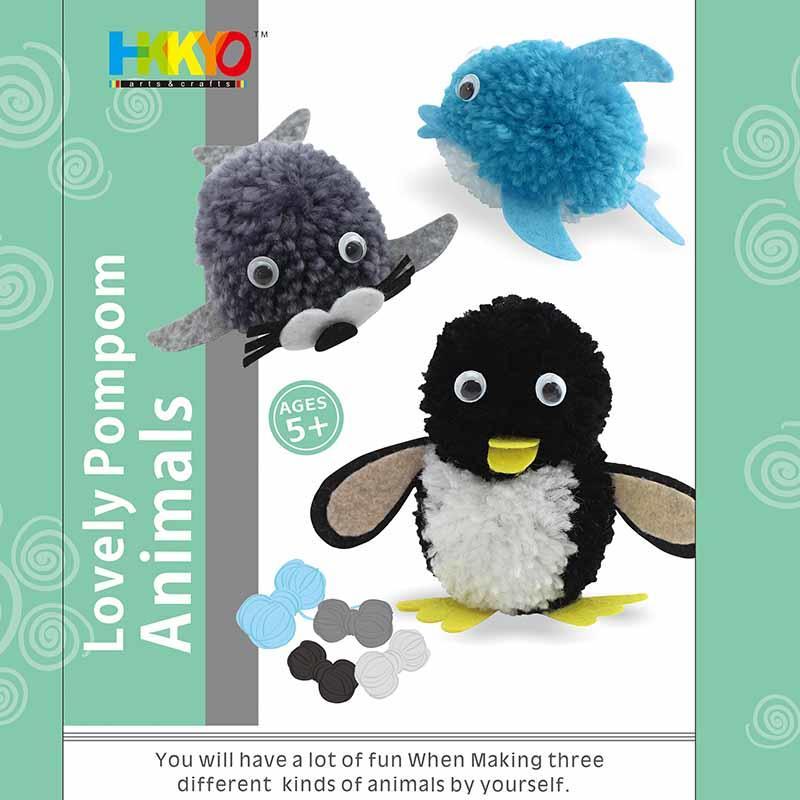 Pom-pom Pals Animals Yarn Arts Crafts Kit for Kids