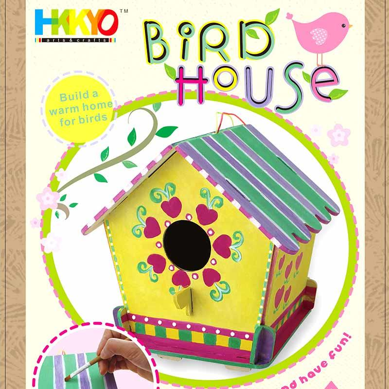 Paint and Color Your Own Wooden Birdhouse Crafts Kit