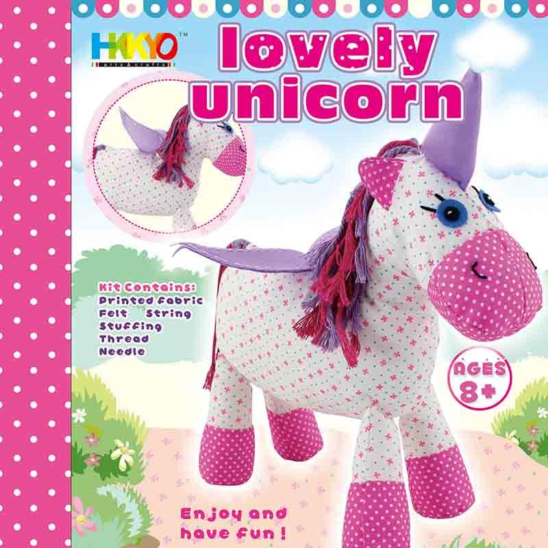 First Fabric Unicorn Sewing Stitching Kit for Kids for Girls