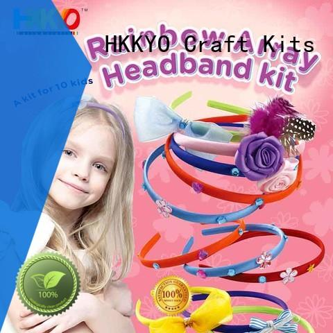 HKKYO ribbon craft sets for kids convenient for DIY craft