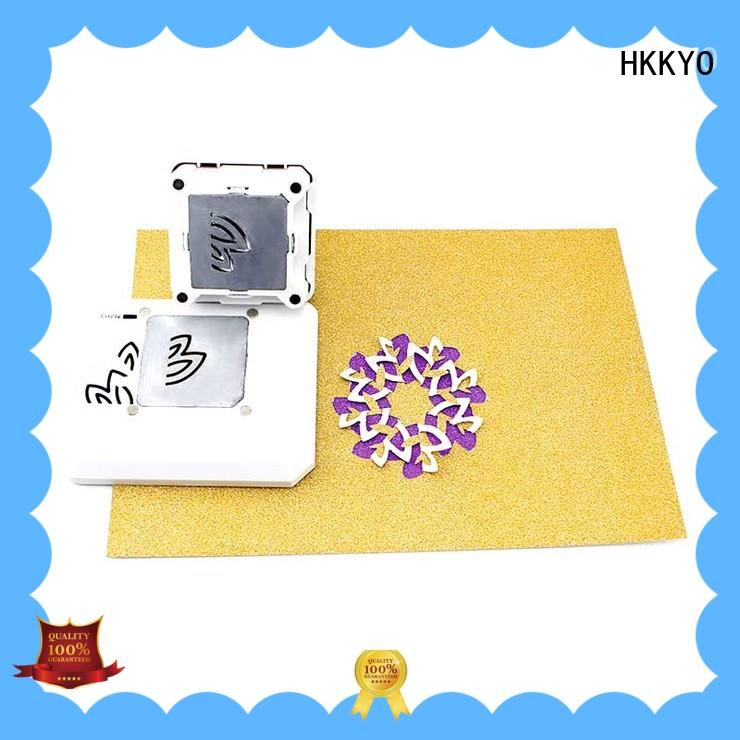 HKKYO customized design everywhere punch diamond shape for birthday cards