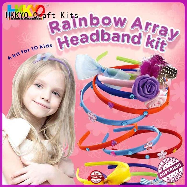 wearable craft sets for kids plastic rainbow for girls