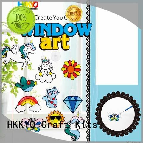 HKKYO narwhal scrapbooking kits easy-to-do for window art
