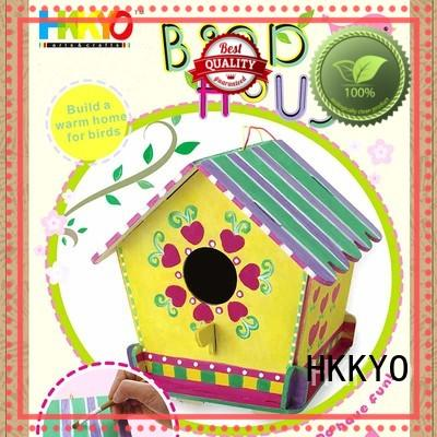 HKKYO waterproof scrapbook making kit birdhouse for painting craft