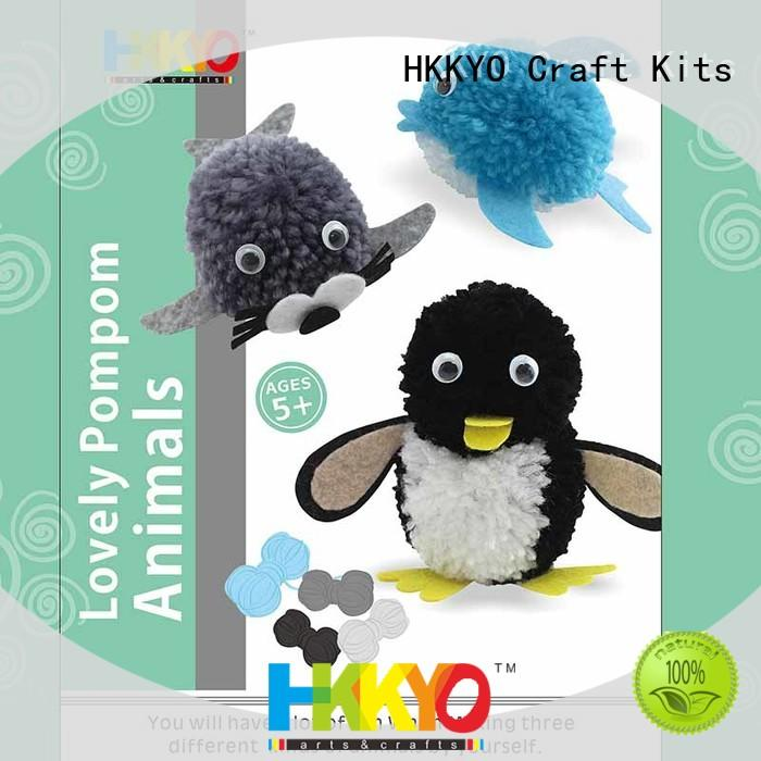 HKKYO pom pom pals arts and crafts kits manufacturer for DIY craft