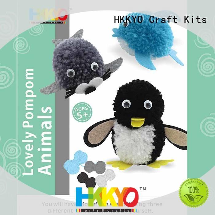 HKKYO pom pom pals arts and crafts kits manufacturer for DIY craft
