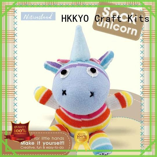 HKKYO animal sock complete scrapbook kit wholesale for children