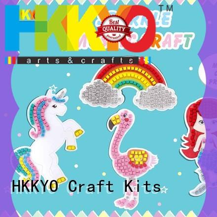 sticky foam arts and crafts sets for girls manufacturer for birthday cards HKKYO