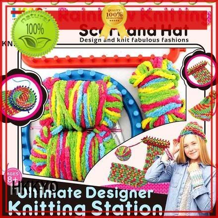 HKKYO plastic knitting needles diy craft kits ultimate design for girls
