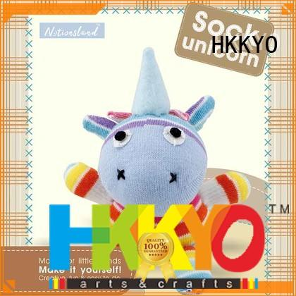 HKKYO animal sock childrens craft sets Suppliers for DIY craft