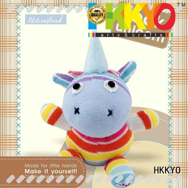 animal sock toddler arts and crafts set stuffed for children HKKYO