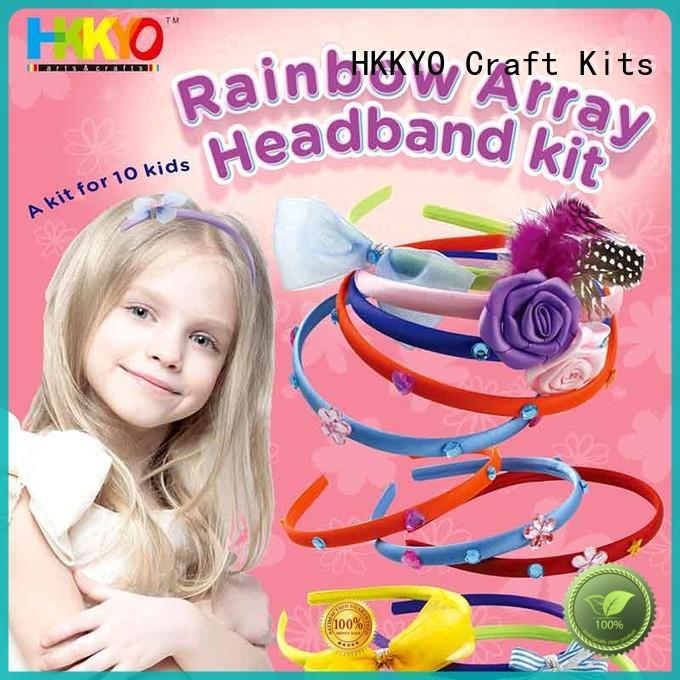 HKKYO rhinestones arts and crafts kits rainbow for girls
