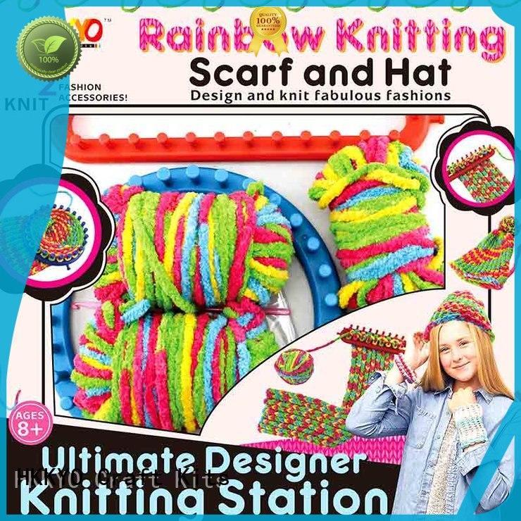 thick rainbow yarn diy craft kits scarf knit for knit craft HKKYO