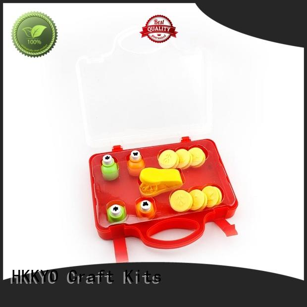 HKKYO easy-to-do craft hole punch educational for kids craft