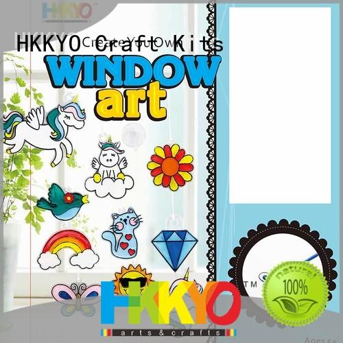 HKKYO stone craft sets for kids easy-to-do for birthday gifts