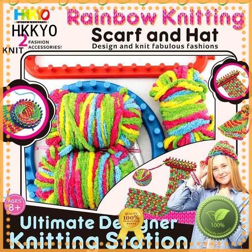 HKKYO scarf knit diy craft kits factory for kids artwork