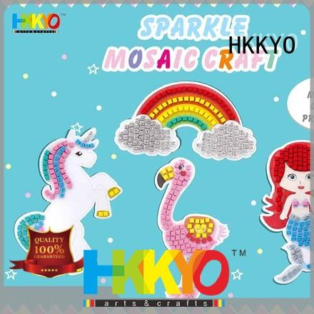HKKYO beautiful craft kits for kids colorful for greeting card