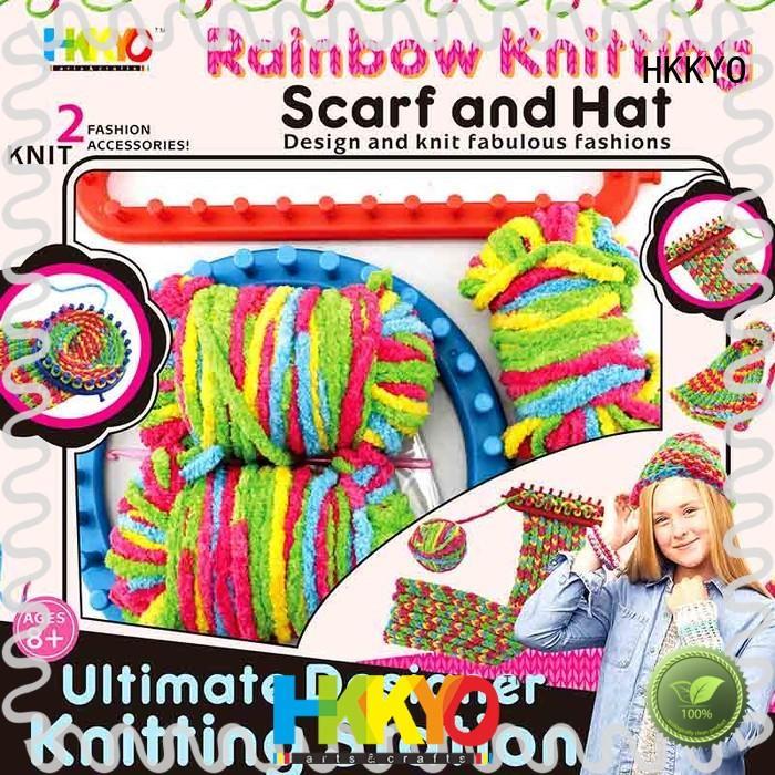 HKKYO scarf knit kids scrapbook kit fun for knit craft