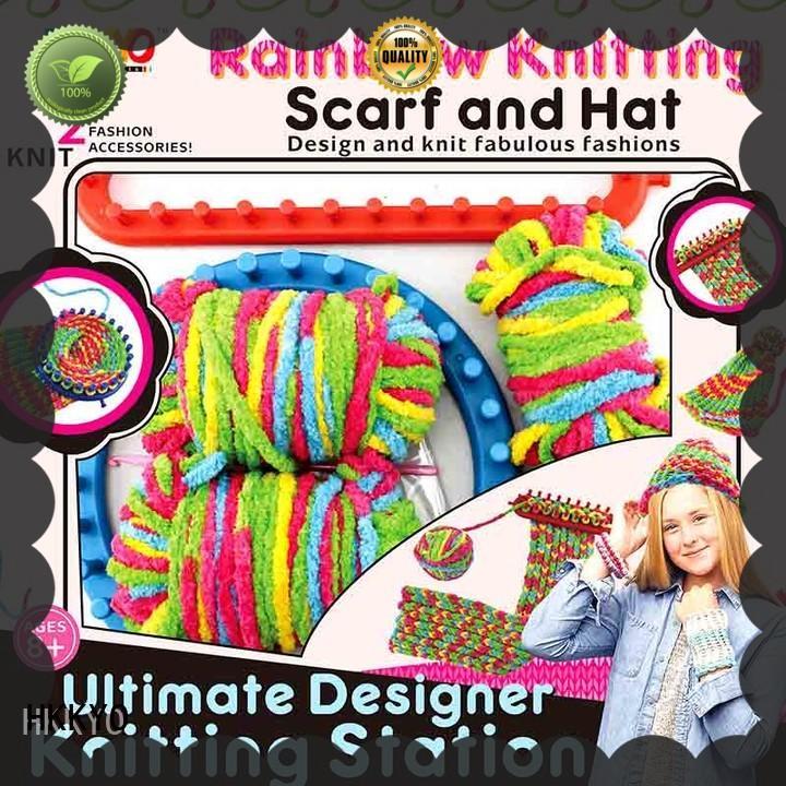 HKKYO wearable paper craft kits for kids plastic knitting needles for girls