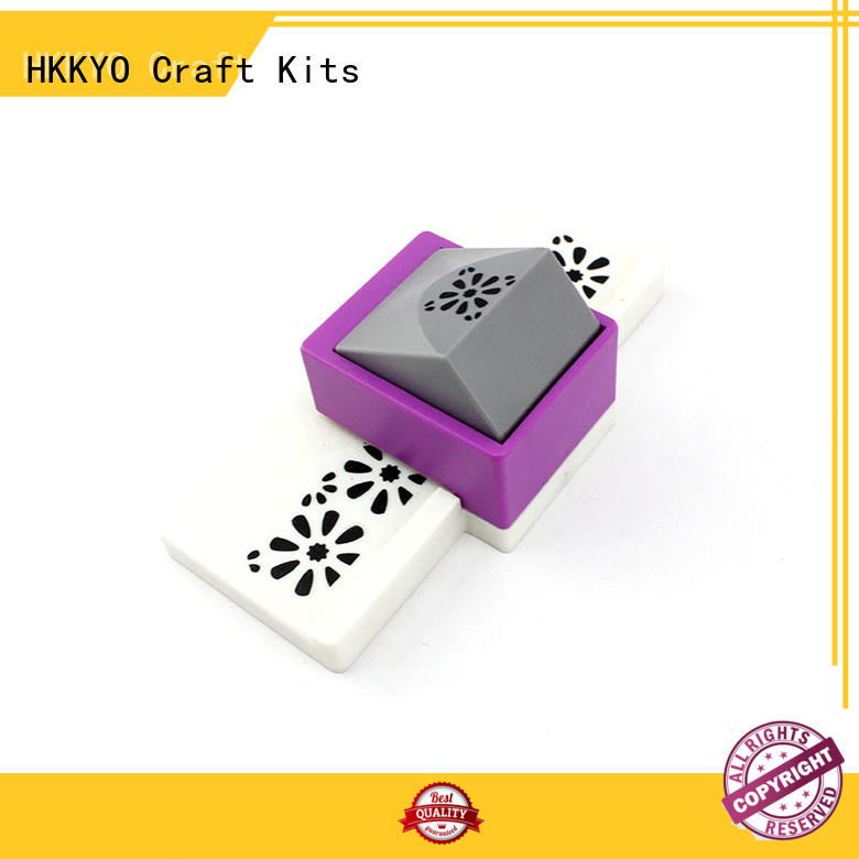 HKKYO ABS & Zinc Alloy craft punching machine customized for kids artwork