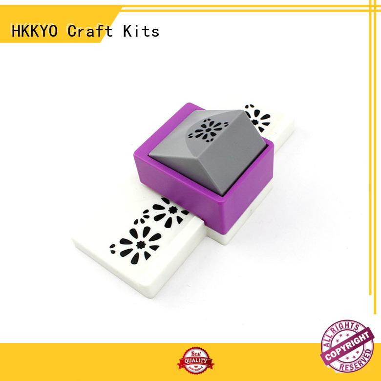 HKKYO ABS & Zinc Alloy craft punching machine customized for kids artwork