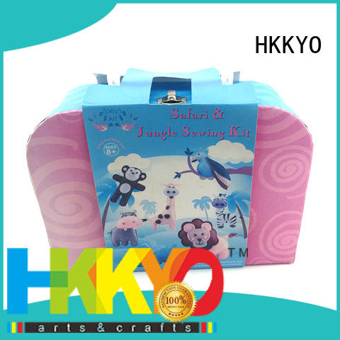 HKKYO fabric felt craft kits educational for rainy day craft