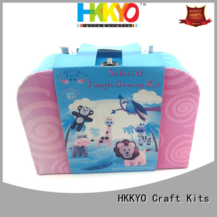 HKKYO fabric diy craft kits educational for girls