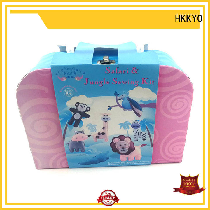 HKKYO fleece diy craft kits precut for birthday gifts