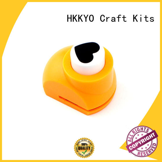 HKKYO easy-to-do scrapbook hole punch multi patterns for kids DIY artwork