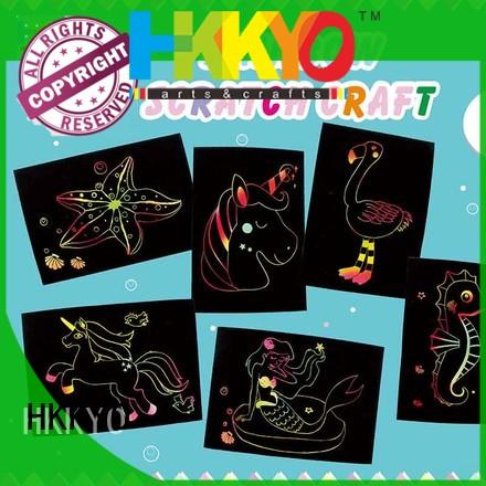 HKKYO scratch paper kit craft creative for birthday cards