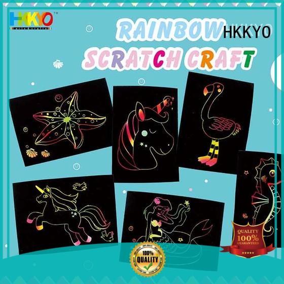 HKKYO unique scrapbook paper kits rainbow for greeting card