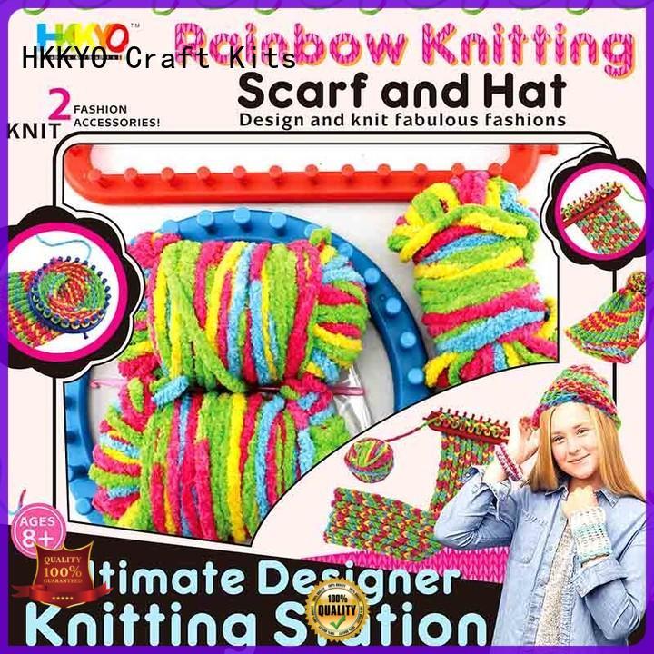 HKKYO plastic knitting needles diy craft kits fabulous for gifts