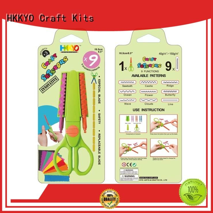 HKKYO hands-on craft scissors shapes wholesale for hands-on activity