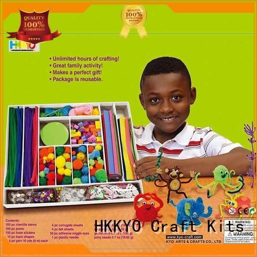 felt kit scrapbooking paper chenilles for family activity HKKYO