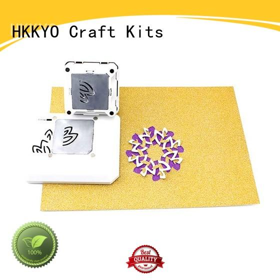 HKKYO ABS & Zinc Alloy paper shape punch Supply for cards