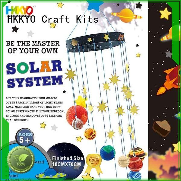 HKKYO rock craft making kits mobile for children