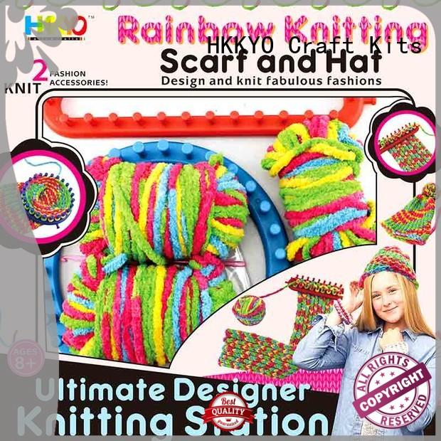 DIY scrapbook kits for sale thick rainbow yarn easy-to-hold for girls