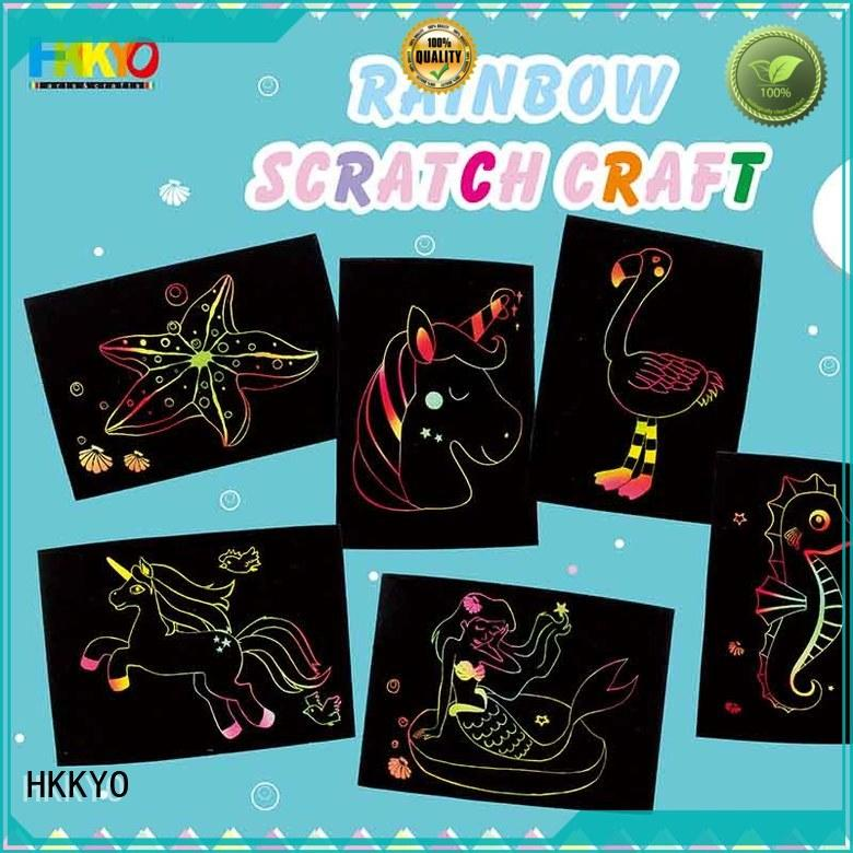 HKKYO scratch paper craft kits for kids manufacturer for birthday cards