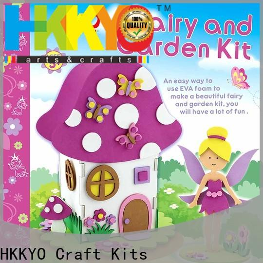 HKKYO fairy house craft kits manufacturers for children
